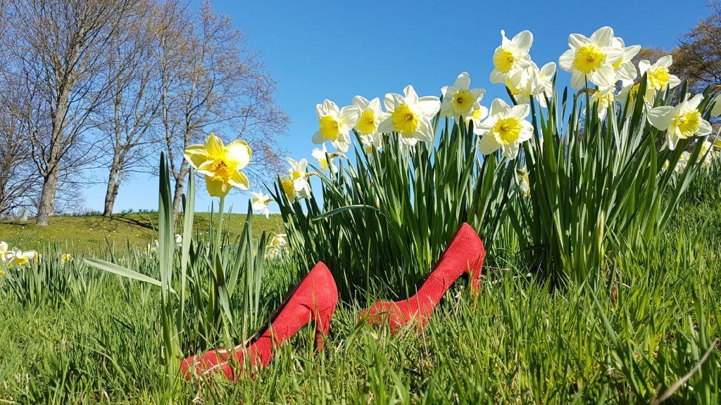 Britzer Garten - Rote Schuhe