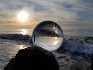 Fotokugel am Meer